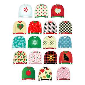 ugly christmas sweaters planner stickers