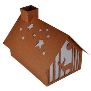 starlight forest deer christmas cabin lantern