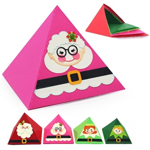 3d pyramid nesting mrs. claus box