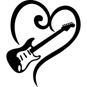 guitar and heart
