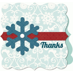 'snowflake' thank you card