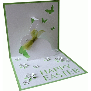 card pop up easter bunny