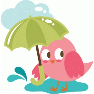 bird holding umbrella