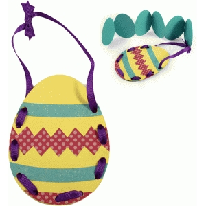kids craft egg pouch