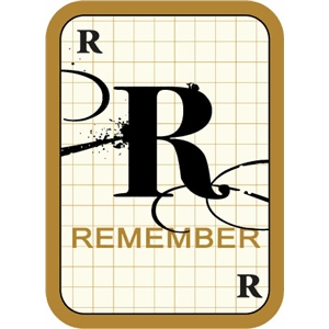 flashcard: remember