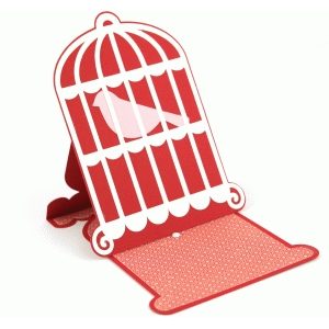 lori whitlock bird cage  easel card