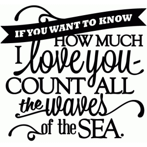 love you - count all the waves of the sea vinyl phrase