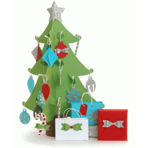 christmas tree advent calendar