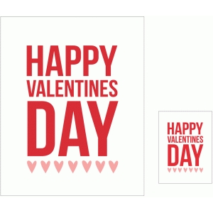 happy valentine's day 3x4 and 8x10 print & cut quote cards