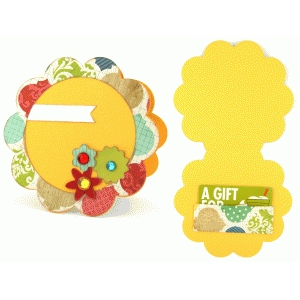 gift card holder: flower