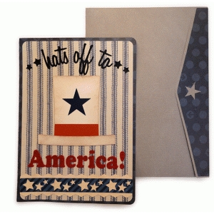 hats off to america a7 card and envelope