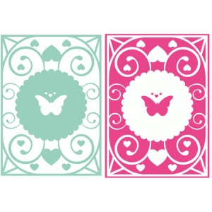 lacy butterfly panels