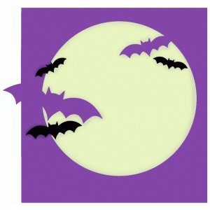 bats over the moon