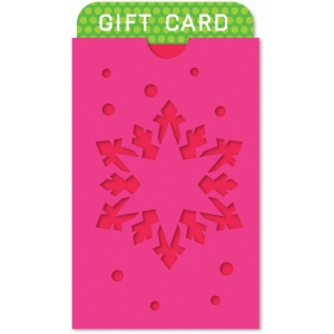 snowflake pocket gift card holder