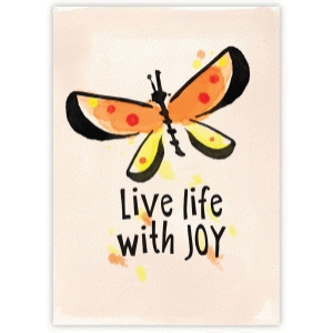 live life with joy watercolor butterfly