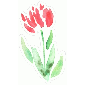 elegant watercolor flower