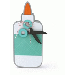 glue bottle shaped card
