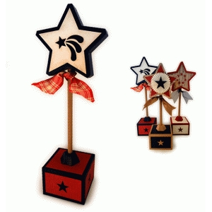 star 3d tall on a stick