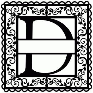 wrought iron vine initial d