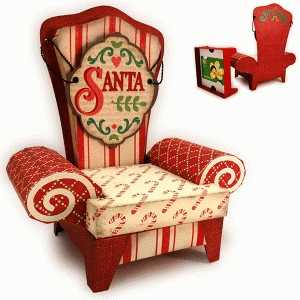 santa 3d arm chair box