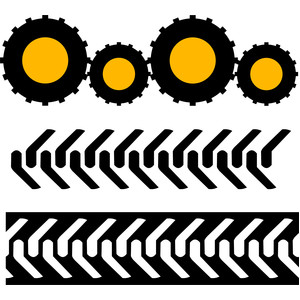 tire marks tractor borders
