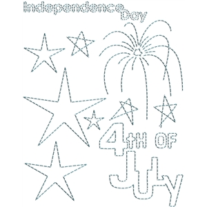 stitching templates - 4th july