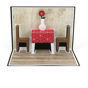 pop up card table & chairs