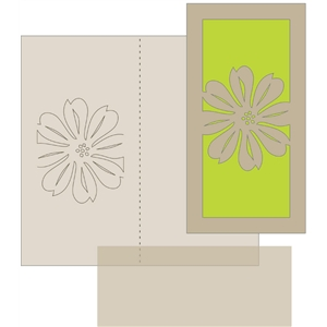 money holder card - flower