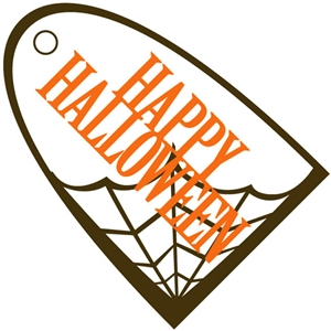 spiderweb halloween tag