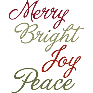 merry, bright, joy, peace