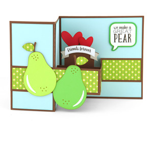 pop up box card pear