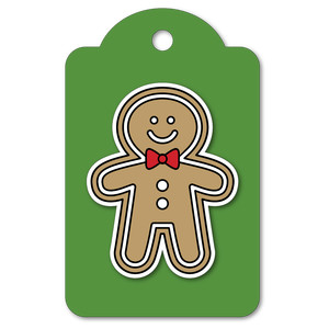 easy print + cut tag gingerbread man
