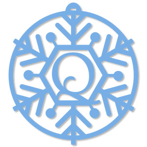 snowflake monogram ornament - q