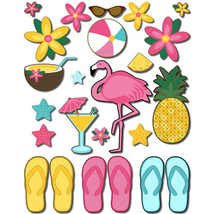beach theme stickers