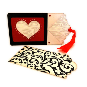 stitched heart window tag card