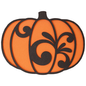 pumpkin shape card