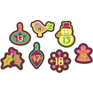 advent calendar ornament set 13-19