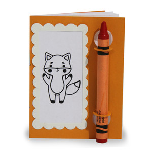 color and sketch book - fox