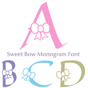 sweet bow monogram font