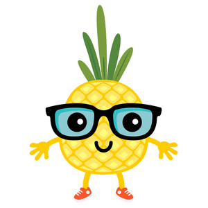 pineapple tart - glasses