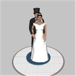 custom wedding cake topper - embrace