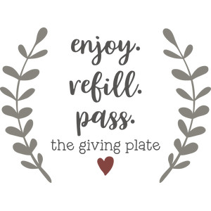 enjoy refill pass giving plate