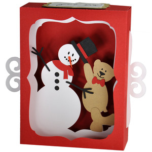 teddy bear snowman gift card decoration