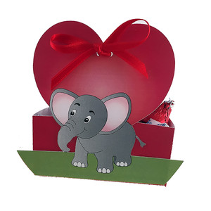 valentine's elephant candy box