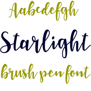starlight brush pen font