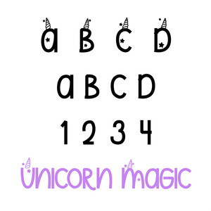 unicorn magic font