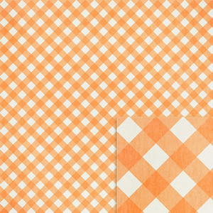 orange gingham background paper
