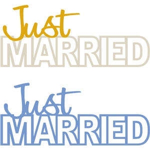 just married phrase