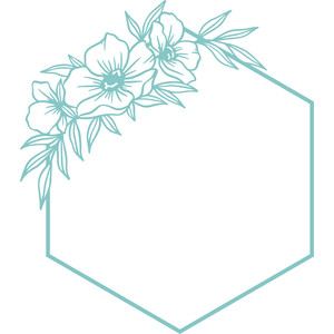 hexagon floral frame