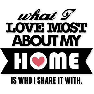 'love home share' phrase